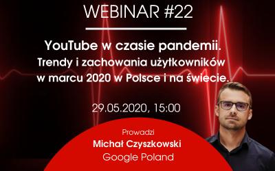 YouTube w czasie pandemii. Trendy i zachowania użytkowników w marcu 2020 w Polsce i na świecie